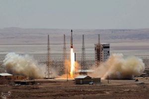 Simorgh rocket launched and tested at the Imam Khomeini Space Centre, Iran in this handout photo released by Tasnim News Agency on Thursday on July 27. Credit: Tasnim News Agency/Handout via REUTERS