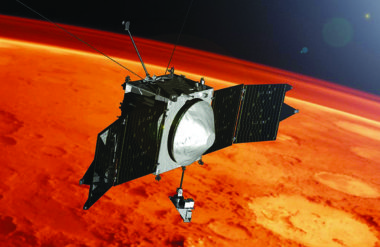 The Mars Atmosphere and Volatile EvolutioN (MAVEN) probe launched in 2013. Credit: NASA Goddard Space Flight Center