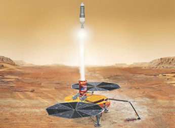 NASA's Mars Sample Return lander and its return capsule are purely theoretical absent funding. Credit: NASA Science Mission Directorate