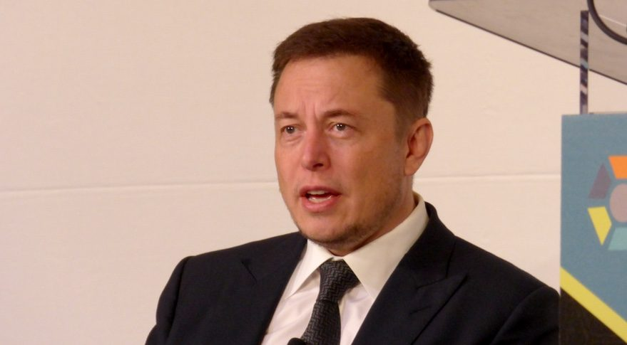 Elon Musk speaks at the ISS Research and Development Conference in Washington July 19. Credit: SpaceNews/Jeff Foust