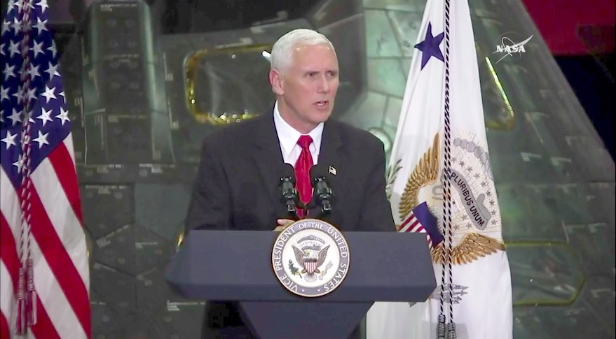 Pence at KSC