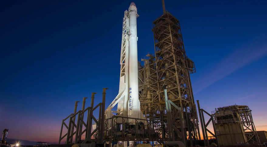 With a one-day launch delay to Monday, the Dragon spacecraft will arrive at the ISS early Wednesday. Credit: SpaceX