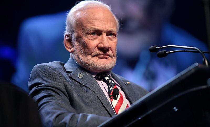 "Buzz Aldrin called on the National Space Council to convince the president to ""commit to a continued occupation of Mars with international crews."" Credit: Wikicommons"