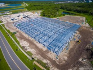 OneWeb's satellite factory in Exploration Park, Florida. Mass production will begin early 2018. Credit: Greg Wyler via Twitter