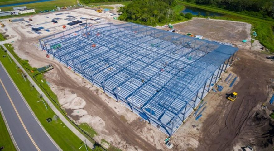 Construction of OneWeb's new satellite factory is moving quickly -  SpaceNews com
