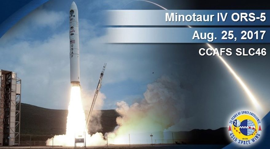 Orbital ATK Minotaur IV rocket launch from Cape Canaveral