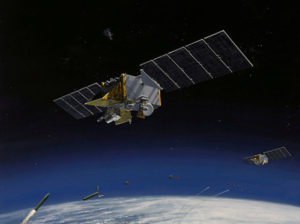 U.S. military space officials want to streamline acquisition and cut costs and time to develop, buy and operate a new line of more relevant satellites. Credit: Northrop Grumman artist's concept