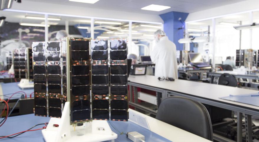 Spire's Lemur-2 satellite with solar panels deployed. Credit: Spire