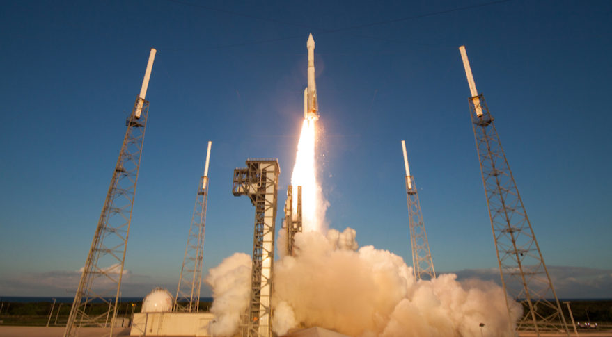 An Atlas 5-411 will launch the SBIRS GEO Flight 4 satellite in January. Credit: United Launch Alliance