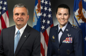 The U.S. Air Force has named Shawn Barnes to be assistant deputy chief of staff for space operations directorate, and Maj. Gen. Pamela Lincoln to be mobilization assistant to the deputy chief of staff for space operations. Credit: DoD