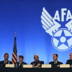 Members from the Air Space Command speak during the Nuclear Deterrence panel at the Air Space, Cyber Conference in National Harbor, Maryland. Credit: U.S. Air Force/ Staff Sgt. Chad Trujillo