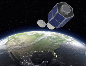 Artist's rendering of future 2HOPSat advanced Earth observation platform. Credit: Hera Systems