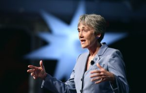 U.S. Air Force Heather Wilson speaking in July at the Air Force Sergeants' Association conference in Reno, Nevada. Credit: U.S. Air Force/Scott M. Ash