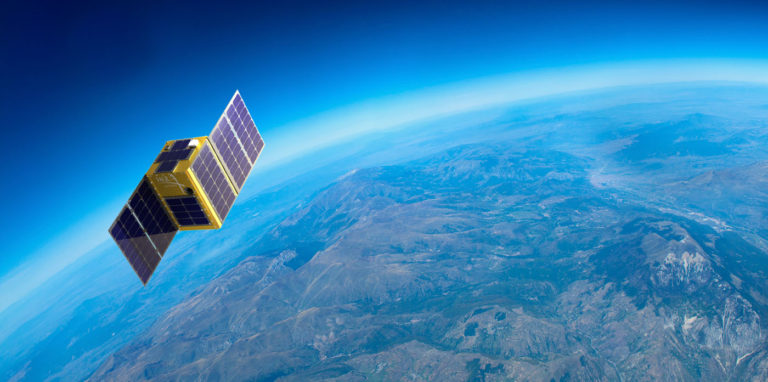 "Hera Systems is developing commercial remote-sensing satellites to gather ""images of the Earth, enabling commercial and government organizations to monitor change and make smart decisions about our planet's constantly changing features and emerging situations across the globe, in near-real time,"" according to the company. Credit: Hera Systems"