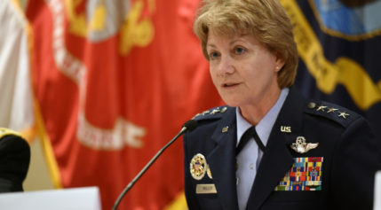 Lt. Gen. Maryanne Miller, chief of Air Force Reserve, says many of the specialized space and cyber operators the Air Force hopes to add to its ranks are likely to be part-time reservists. Credit: U.S. Army National Guard /Sgt. 1st Class Jim Greenhill