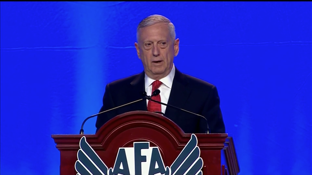 """In space, we need new starts in order to take advantage of what industry can deliver if we are willing to invest there,"" U.S. Defense Secretary Jim Mattis said Sept. 20 at the annual Air Force Association Air Space Cyber conference."