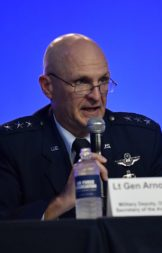 """We need to do more dialogue with the Hill,"" Air Force Lt. Gen. Arnold Bunch said. ""I would hope we get that done within the next month.""  Credit: U.S. Air Force/Wayne A. Clark"