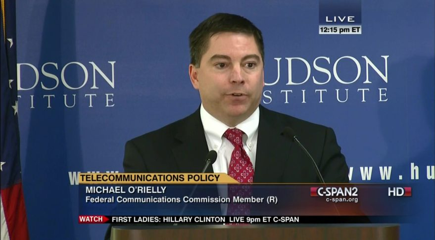 FCC commissioner Michael O'Rielly at Hudson Institute in 2014 (Wikicommons).