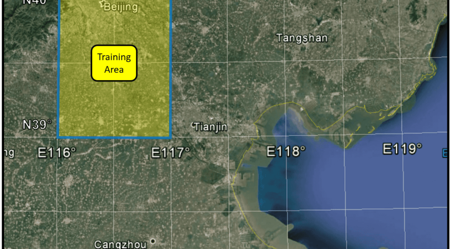 Researchers use machine learning to search for SAM sites over a large search area in southeast China. (Center for Geospatial Intelligence)