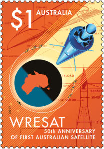 Australia Post is celebrating the 50th anniversary of Australia's first satellite with the release of a new stamp issue.
