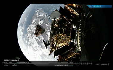 SpaceX Iridium Next separation