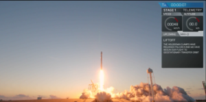 spacex launches third pre flown rocket with echostar ses satellite lands booster