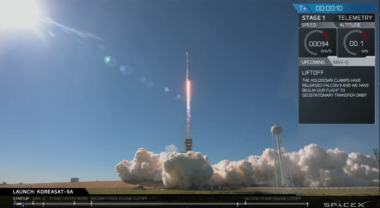 SpaceX Falcon 9 Koreasat 5A launch