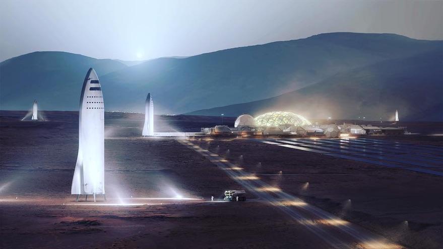 BFR on Mars