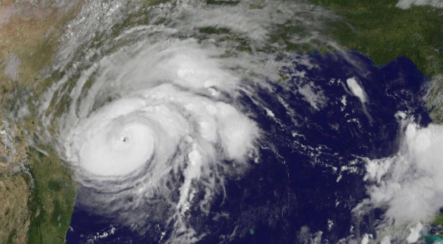A GOES satellite image of Hurricane Harvey. Credit: NASA
