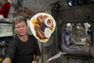 Tortillas are a staple on the ISS but bread's high crumb quotient makes it a no-go for microgravity. Credit: NASA