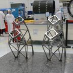 Poly-Shape produced the largest metal satellite parts additively manufactured in Europe, antenna supports for Thales Alenia Space's communications satellites KoreaSat 5a and KoreaSat 7.  Credit: Poly-Shape