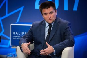 Pavlo Klimkin, Ukraine's minister for foreign affairs speaks at the 2017 Halifax International Security Forum