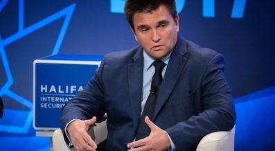 Pavlo Klimkin, Ukraine's minister for foreign affairs speaks at the 2017 Halifax International Security Forum