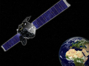 GovSat-1 will be a multi-mission satellite that will use X-band and military Ka-band frequencies on high-power and fully steerable mission beams to support multiple operations. Credit: SES