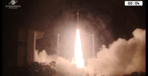 arianespace launches moroccan observation satellite on italian vega rocket