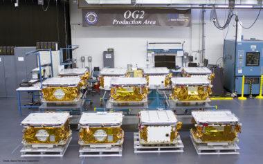 Stowed OG2 Satellites at SNC Orbcomm