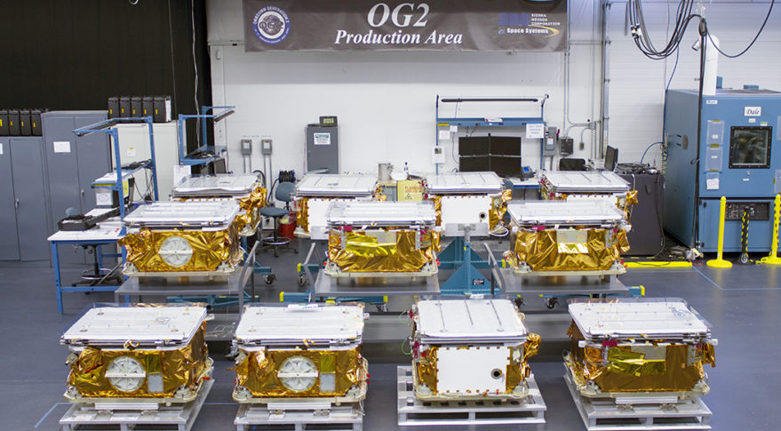 Stowed OG2 Satellites at SNC Orbcomm