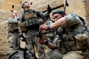 U.S. soldiers set up a tactical satellite communications system in Afghanistan. Credit: U.S. Army/ Sgt. Russell Gilchrest