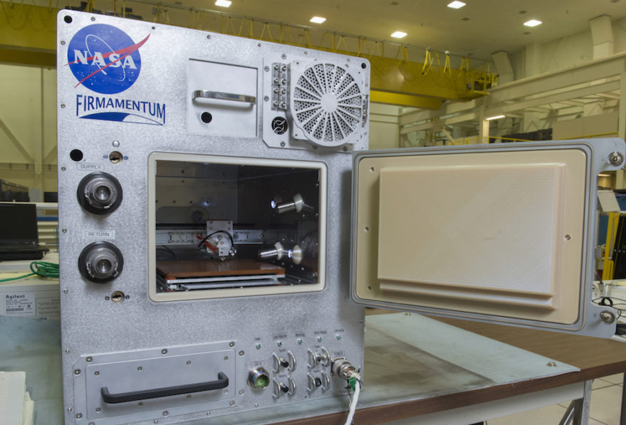 NASA is paying the company to build Refabricator, a machine to recycle and reuse metal on the International Space Station, and to develop the Trusselator, a device to create lengthy carbon composite structures in orbit. Credit: Tethers Unlimited