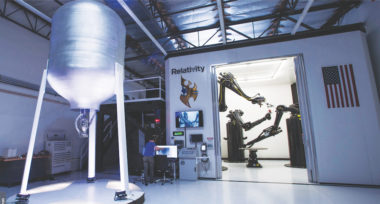 Relativity Space claims its building-size Stargate rocket mill is the largest metal 3D printer in the world. (Relativity Space)
