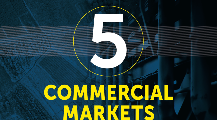 5 Commercial Markets for Space graphic