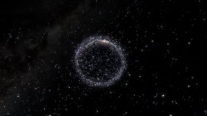Space debris (ESA photo)