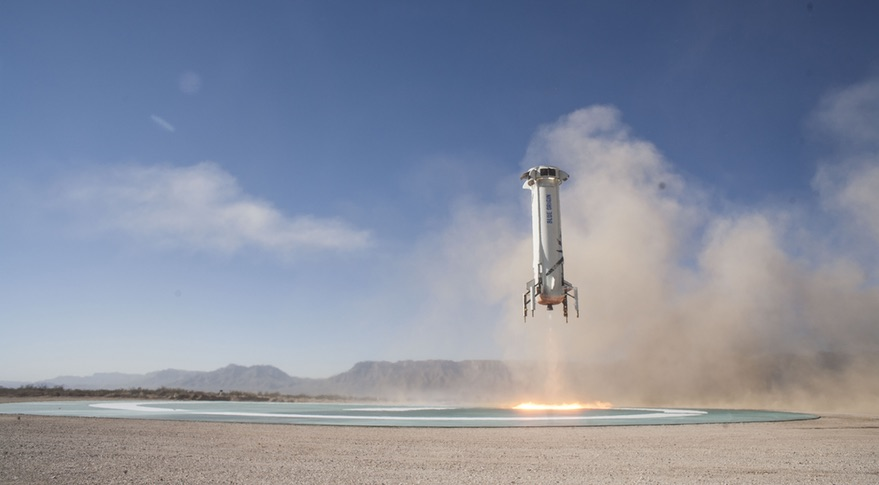 Upgraded New Shepard booster flies from West Texas