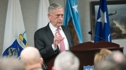 Defense Secretary Jim Mattis at U.S. Northern Command headquarters in Colorado Springs, Colorado. Credit: DoD
