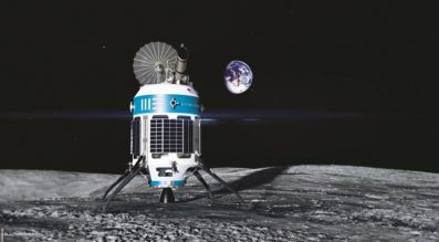 Artist's concept of the MX-1 robotic explorer Moon Express intends to send land on the lunar surface. (Credit: Moon Express)