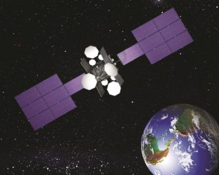 SES's NSS-806 satellite lost 12 of its transponders last summer. (Credit: SES)