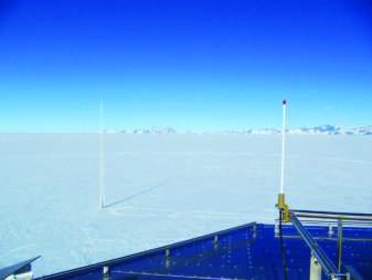 A Sigfox IoT antenna, located in Anarctica. (Credit: Sigfox)