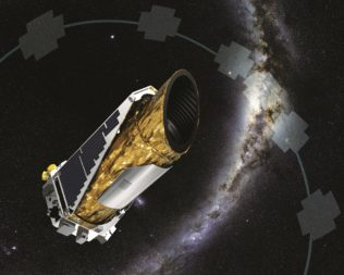NASA's planet-hunting Kepler telescope is nearing the end of its extended mission. (Credit: NASA)