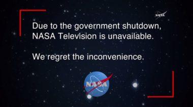 NASA TV shutdown