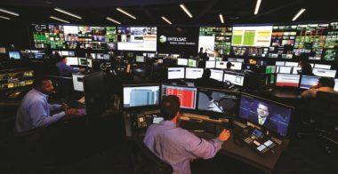 Intelsat's Network Operations Center in Ellenwood, Georgia. (Credit: Intelsat)